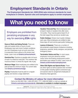 Employement Standards Poster