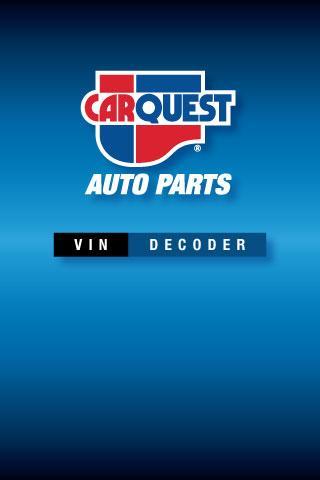 CARQUEST VIN DECODER phone app
